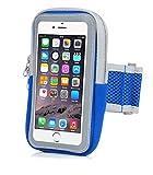 Handy socken mit Fingerabdruck Touch, Lbsel Handy Arm Band Tasche Schutzhülle Halter für Gym Laufen Training Übung für iPhone X/8/7/6S/6/Plus/5, Samsung Galaxy S8/S7/S6, Google Pixel, LG