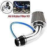 Lin XH 3'Universal filtro dell'aria sportivo auto alluminio Pipe Power Flow Kit