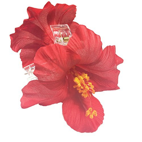OWM-Beauty-Accessories-Hair-Red-Hawaiian-Hibiscus-Double-Sided-Jaw-Hair-Clip-by-OWM-Handkerchief