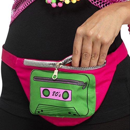 Retro Bauchtasche Bunte Hüfttasche Disco Funky Festival Tasche 80er Mode Outfit Accessoire Bad Taste Party Kleidung 80er Jahre Gürteltasche (Mode-taste)