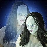 Mascara Halloween, Zolimx Caliente Venta 2018 Halloween Horror Bruja Pelo Largo Cara Completa Máscara de Látex