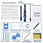 YINSAN-119-in-1-Set-Cacciaviti-Precisione-Magnetici-Professionali-Kit-Cacciavite-di-Riparazione-Portatile-per-Orologio-Occhiali-iPhone-iPad-Smartphone-PC-Laptop-Tablet-Elettronica-ecc