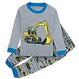 Mombebe Kinder Junge Flugzeug Schlafanzug Pyjama Set (Bagger, 6 Jahre)