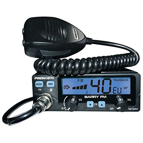PRESIDENT Barry TXPE002 CB Radio ASC-40 cannaux AM/FM-Multinormes, Multi