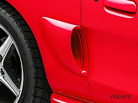 Vicrez Ford Mustang 1994-1998 Sallen Style 2 Piece Polyurethane Side Scoops