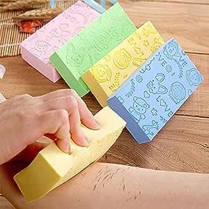 Flyoro® Ultra Soft Exfoliating Sponge | Asian Bath Sponge For Shower | Japanese Spa Cellulite Massager | Dead Skin Remover Sponge For Body | Face Scrubber for Women and Men (spong)