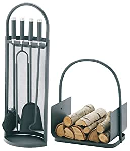 Süd-Metall Kaminofen Zubehör-Set, anthrazit beschichtet 2002230