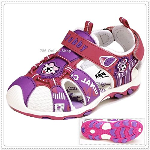Enfants Sandales Bébé Sandales (184C) Chaussures pour enfants Enfants Sandales Chaussures Sandales pour enfant NEUF Rose - Lila-Pink