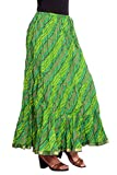 kastiel Dyed Women's Regular Green Skirt