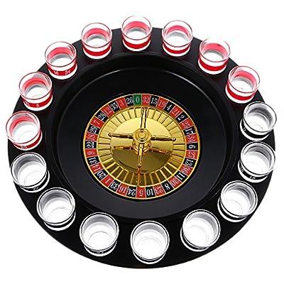 sharprepublic Plaque Pivotante Rusian Roulette Casino Lucky Shot Drinking Game Fun 2-8 Joueurs
