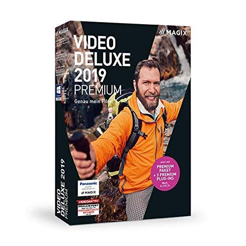 MAGIX Video deluxe 2019 Premium - Für anspruchsvolle Videoproduktionen.|Standard|1 Device|1 Year|PC|Disc|Disc