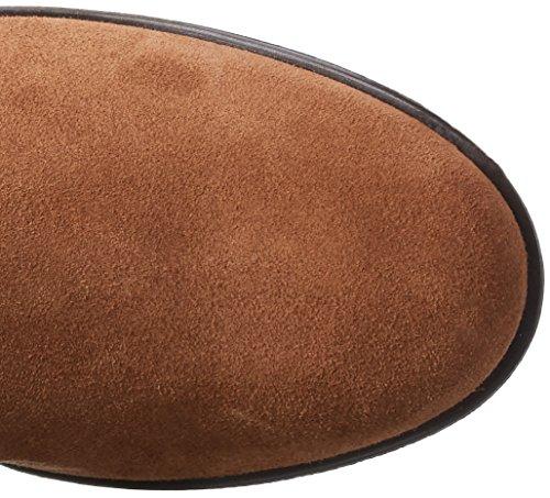 VERO MODA Damen Vmmille Leather Overknee Boot Schneestiefel Beige (Adobe)