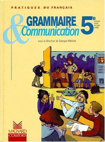 Grammaire et communication 5e, livret élève