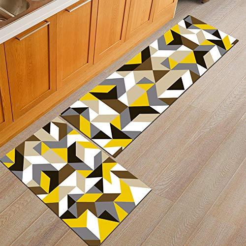 Moderne 3D-Druck Teppiche Rechteck Läufer Badematte Große Größe Weichen Raum Bodenbeläge Set Anti-Rutsch-Dekor Decke - 2 Pcs,C,40×60+40×120
