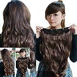 Babysbreath Frauen voller Kopf Clip in Haarverlängerungen lange lockige gewellte Haarteil Perücke