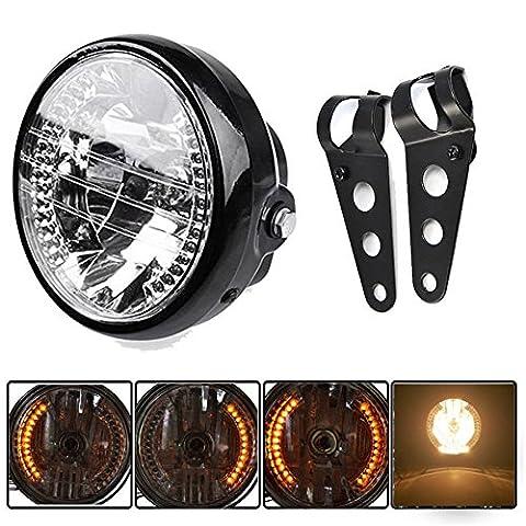 Yosoo Universal Halterung und LED-Scheinwerfer für Motorrad und Fahrrad, 17,8cm
