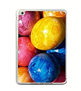 Fiobs Designer Back Case Cover for Apple iPad Mini 4 (4th Gen) (Cute Eggs Faces Friends 2 )