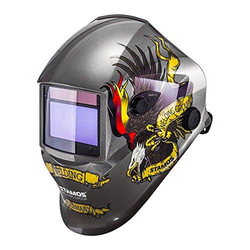Stamos Germany - Schweißhelm Schweißmaske Schweißschirm Automatik - Eagle Eye - ADVANCED SERIES - 98 x 55 mm - Lichtschutz DIN 9 - 13