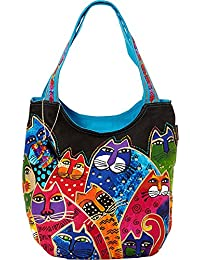 Laurel Burch Laurel Burch Whiskered Family Scoop Tote (Whiskered Family)