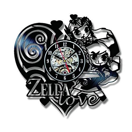 Syhua Disque Vinyle Horloge Murale Design Moderne Noir Creux 3D Décoration Zelda Amour Thème Suspendu Horloges Mur Montre Home Decor Silent