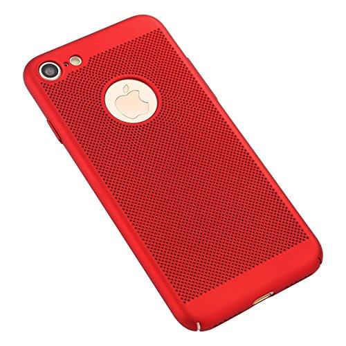 Liamoo® Apple Iphone 7Cover/Case/Custodia in plastica con fori con ritaglio Logo in rot