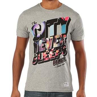 Bench Herren Langarmshirt T-Shirt City Never Sleeps grau (Grey Marl) Large