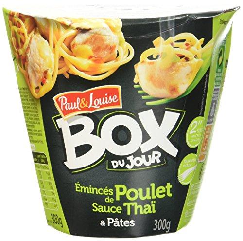 paul-louise-box-du-jour-emince-de-poulet-sauce-thai-et-pates-300-g-lot-de-4