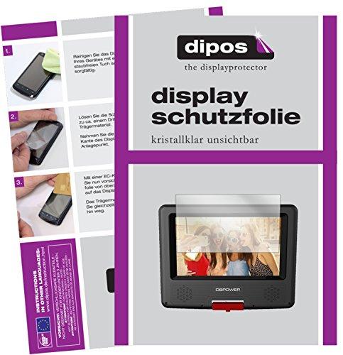 dipos I 3X Schutzfolie klar passend für DBPower 7,5 Zoll Tragbarer DVD-Player Folie Displayschutzfolie