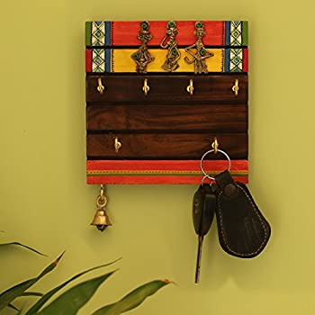 Pindia Decorative Wooden Wall Hanging Key Holder: Amazon.in: Home ...