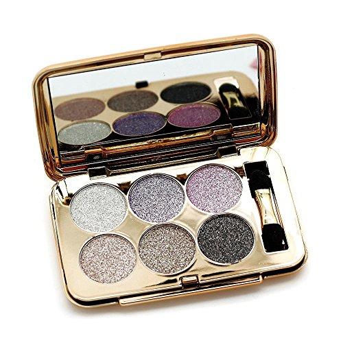 Ucanbe Super Flash Glitter Eyeshadow Palette 6 Colors Eye Shadow Makeup Kit Shine Bright Like a Diamond,No.2 by UCANBE