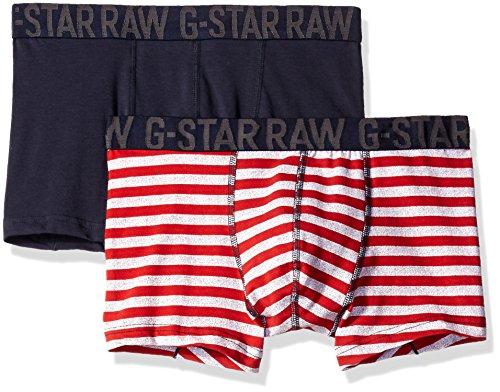 G-STAR RAW Wyssel Sport Trunk 2 Pack, Capo Intimo Tecnico Uomo, Multicolore (White/Asfalt Ao/Mazzarine Blue 7125), Medium (Taglia Produttore: Medium)