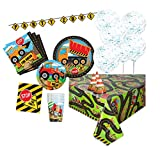 Unique Party 80519 - Kit per Festa a Tema Edile per 8 persone