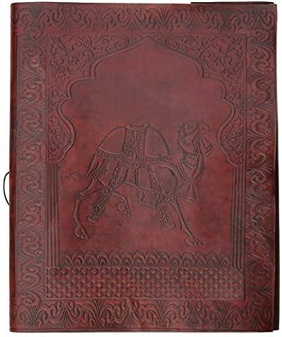 WINTER Angebot des Tages - SouvNear Bild Album mit Büttenpapier - 26.9 cm - braun - Handgefertigt in Leder - Vollkommenes Geschenk für Mütter / Hochzeit / Urlaub