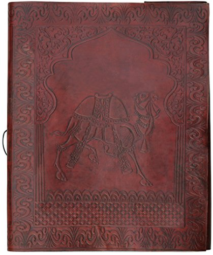 souvnear-photo-album-scrapbook-for-6x4-sized-108-photos-big-leather-picture-album-with-handmade-pape