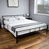 Dorset King Size Low Foot End Bed Frame with Headboard (Frame Material: Metal, Assembly Required) (Black)