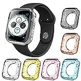 AFUNTA - 6 Piezas de Carcasa Protectora de Pantalla para Apple Watch Series 4, 40 mm Todo Alrededor de TPU Parachoques Impermeable Cubierta Compatible con iWatch Series 4 - 6 Colores