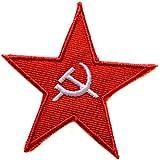 ecusson drapeau urss communiste faucille marteau thermocollant 8cm patche badge