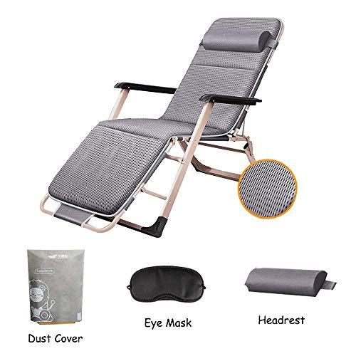 XUE Schaukelstuhl gepolsterter Schwerelosigkeits-Klappstuhl, Verstellbarer Liegestuhl im Freien für Gartenterrasse-Strand-Balkon oder Camping,B -