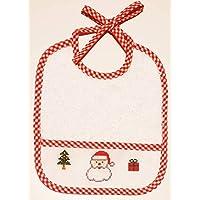 Babero bebé EXCLUSIVO para Navidad PAPA NOEL HAPPY COLORS by INMA