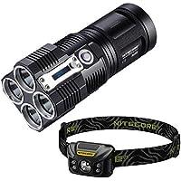 Combo: Nitecore TM26 LED Flashlight -4000Lm w/Nitecore NU30 Rechargeable Headlamp