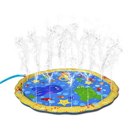 Dracarys Splash Pad, Kids Water Sprinkle und Splash Play Mat 39 Zoll Wasserspray Toy Kinder Baby Pool Pad Sommer Spaß Strand Outdoor Rasensprenger Kissen für Babys und Kleinkinder (39 Zoll)