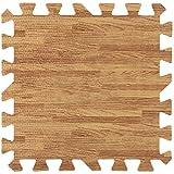 9 piezas de 30X30cm de madera impresa de grano de bloqueo de espuma de tres colores de espuma de EVA piso Puzzle Mats ( Color : Light Brown Random )