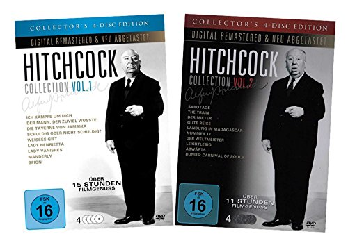Das Hitchcock - Set ( Collection Vol.1 & 2 )( Metallboxen ) [8 DVDs]