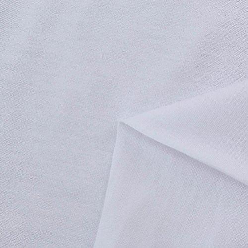 Herren Langarmshirt Longra Männer Slim Fit O Neck Langarm Muskel T-Shirt Lässige Tops Bluse White