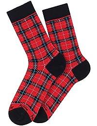 Mi-chaussettes modèle Keystone en coton - Couleur - Rouge, Pointure - 39-46