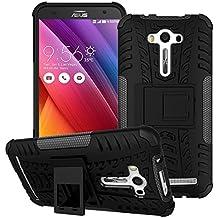 "Voguecase® Para Asus Zenfone 2 Laser ZE550KL (5.5""), Funda Carcasa Duro Tapa Case Cover con soporte (negro) + Gratis aguja de la pantalla stylus universales"