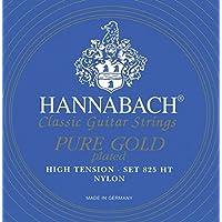 Hannabach 652627 Set Corde per Chitarra Classica Serie 825, Tensione Alta, Placcato Oro