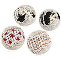 UEETEK 4pcs 5CM chat jouet chaton chat gratter Ball Play Scratch Toy