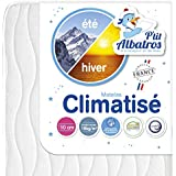 P'tit Albatros - Matelas Climatisé 60x120cm - Anti acarien, Face Eté/Hiver