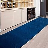 casa pura Tapis de Passage Magnum Bleu | pour Cuisine, Couloir, entrée | Poids du...